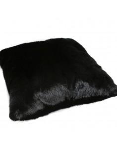 Husa perna blana negru 40x40