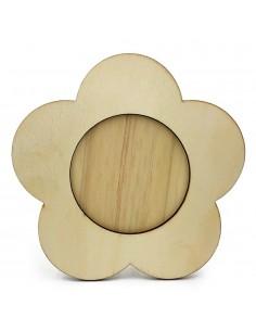 Rama foto lemn floare