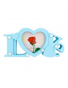 Rama foto bleu cu lumini LOVE 1 poza