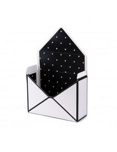 Cutie tip plic alb+negru - set 12buc