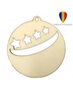 Ornament de brad lemn - rotund