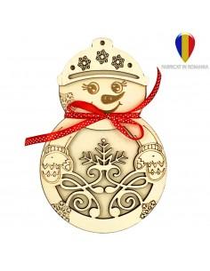 Cutie cu 10 ornamente de brad - lemn