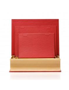 Cutii carte de Craciun model brad - set 3buc