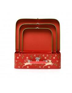 Cutii tip geanta model reni - set 3 buc