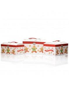 Cutii cufar model turta dulce - set 3 buc