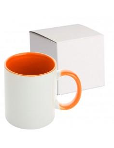 Cana maner interior portocaliu MANGO + cutie individuala