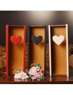 Cutie pentru vin dreptunghiulara inima