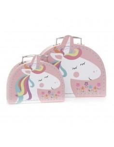 Set 2 cutii pentru copii – model unicorn