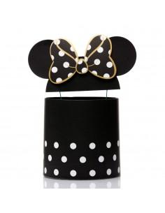 Set 3 cutii rotunde Minnie Mouse – negru