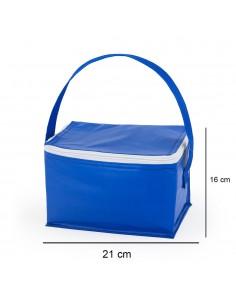 Mini geanta termoizolanta albastra