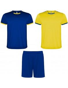 Echipament Roly RACING albastru+galben