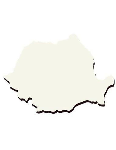 Placheta MDF cu forma Romaniei