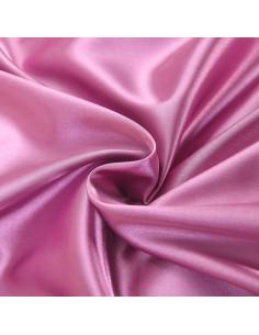 Husa perna satinata alb+roz 40x40