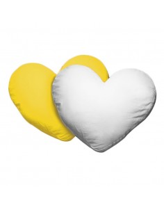 Husa perna inima alb+galbena