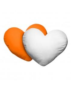Husa perna inima alb+portocaliu