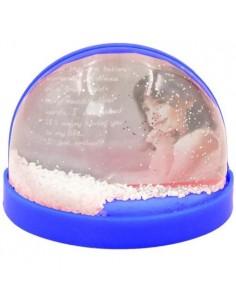 Glob foto magnetic albastru