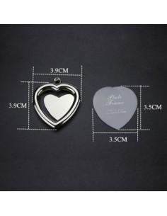 Breloc metalic insertie foto inima