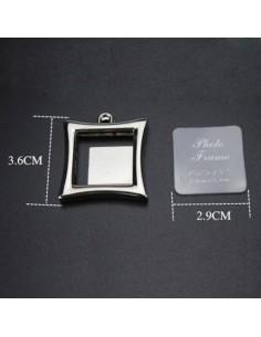 Breloc metalic insertie foto patrat
